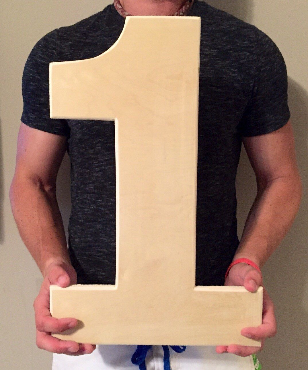 Giant Wooden Number 1 Wooden Number One Perfect For Diy Photo