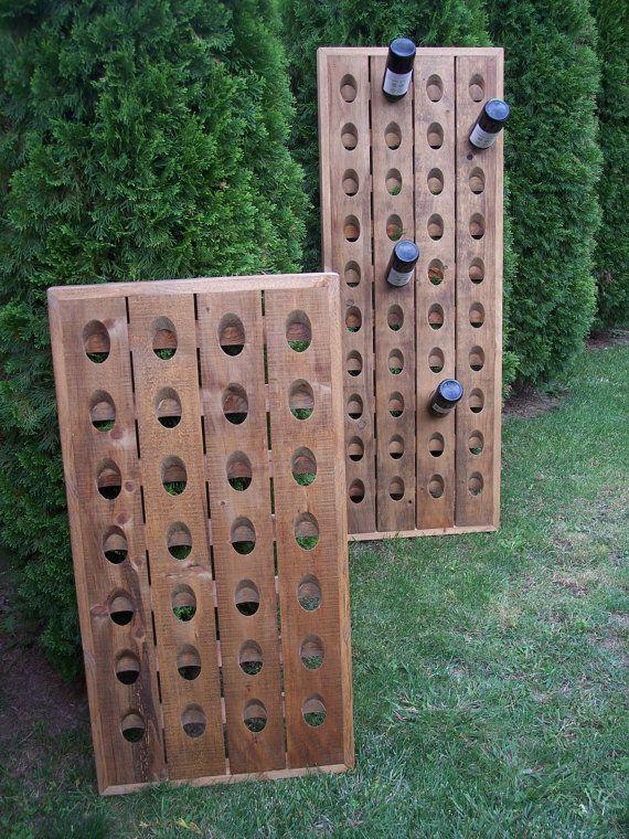 French Riddling Rack Wine Rack Pottery Barn Style Riddling Rack