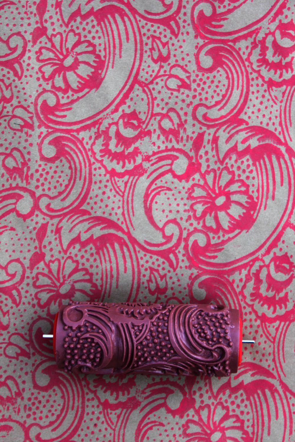 Wallpaper Paint Roller night dahlia patterned paint roller | patterned paint rollers