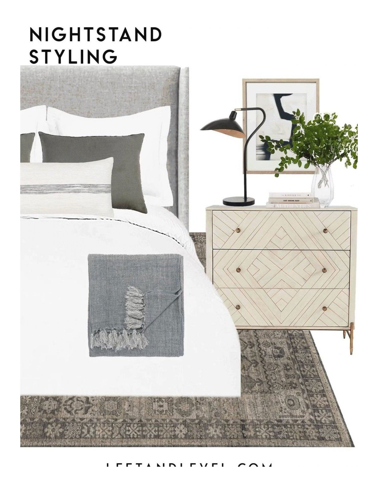 Diy Einrichtungsideen How To Style Your Nightstand Einrichtungsideen Schlafzimmer Bett, Einrichtungsideen Schlafzimmer Grau,… In 2020 | Chic Nightstand, Nightstand Decor, Bedroom Nightstand Decor