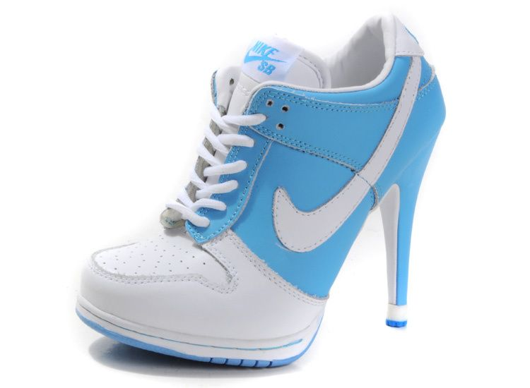 Nike Dunk High Heels For Womens Blue White