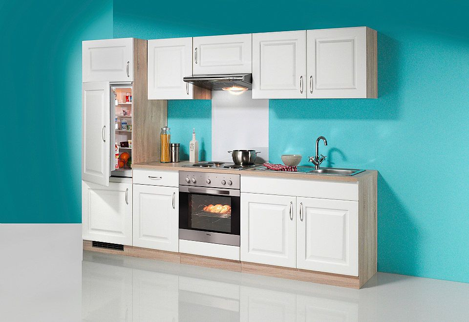 Küchenzeile »Tilda«, mit Elektrogeräte - mit Glaskeramik-Kochfeld - küchenzeile 160 cm
