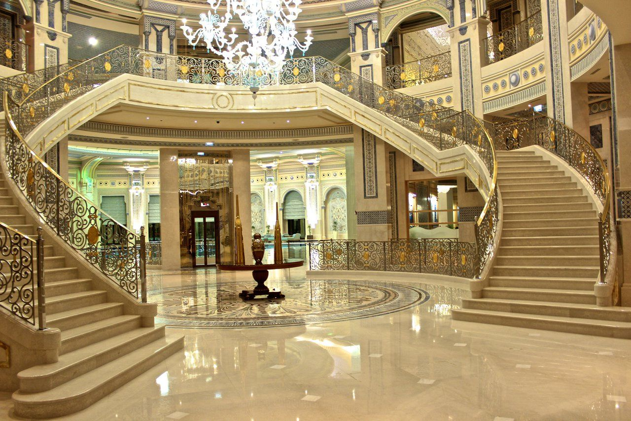 Double Grand Staircases..   Hotels design, Grand staircase ...