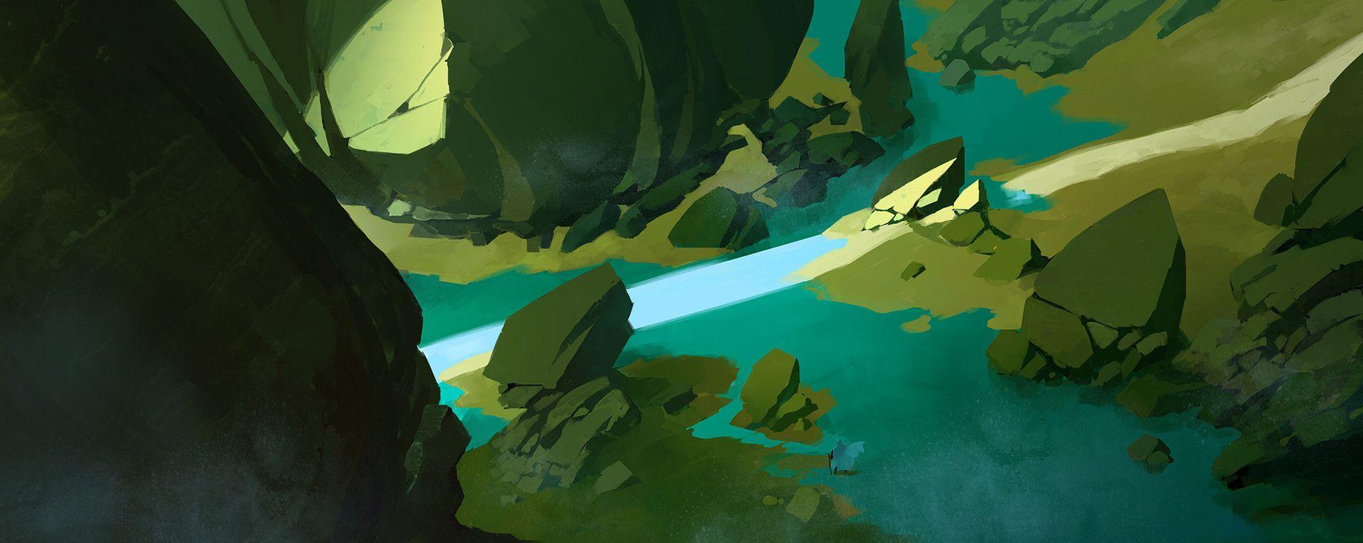 ArtStation - 蓝色湖边, YU YIMING