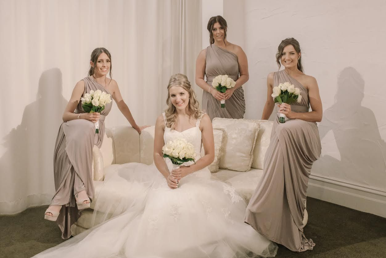 The gorgeous bridesmaids wore the ingrid dress in the colour latte the gorgeous bridesmaids wore the ingrid dress in the colour latte by pia gladys perey perthbrisbanemelbournesydneybridal ombrellifo Gallery