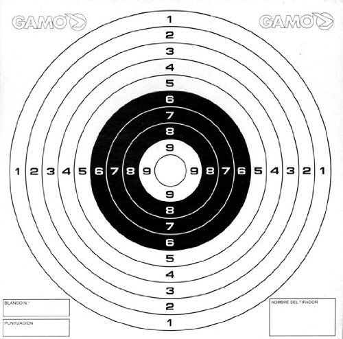 Gamo Bone Collector Paper Targets, Bullseye (100 Count) by Gamo. $5.20. Gamo bullseye targets made to fit the Bone Collector Cone Backyard Trap, as well as range use.  The target is on cardboard for easier sighting and better stability.. Save 26%!