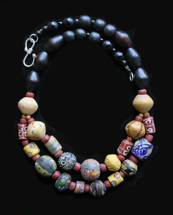 Nice strand Krobo trade beads Ghana