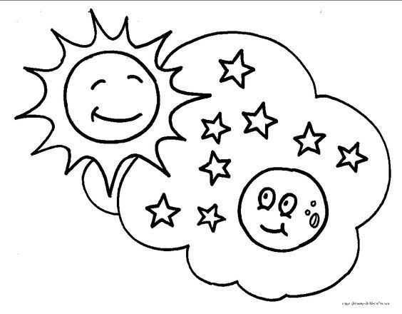 Star Coloring Sheet 2017 16570 Stars Pages Free Moon Sun