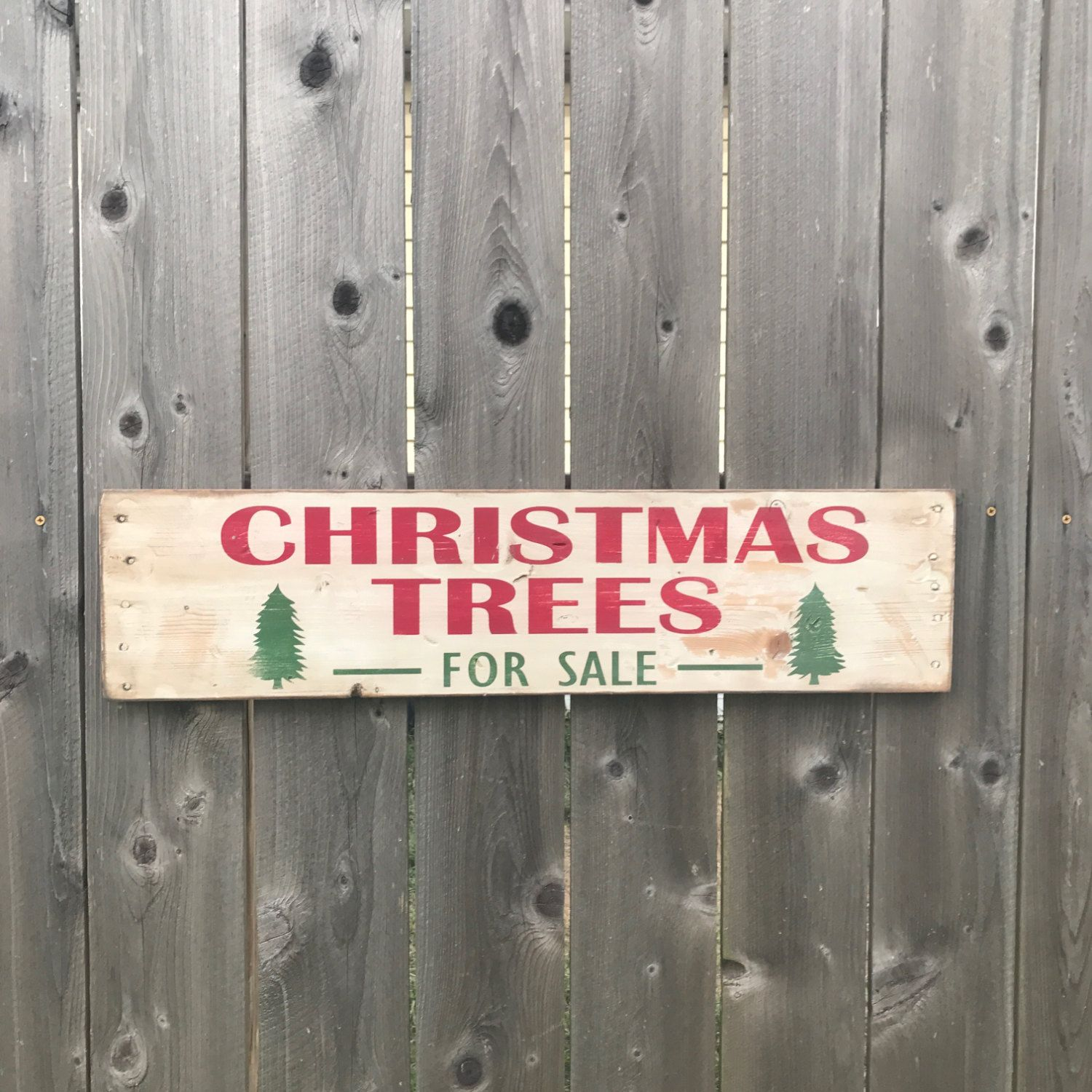 FixerUpper Christmas Trees For Sale Wood Sign / Rustic