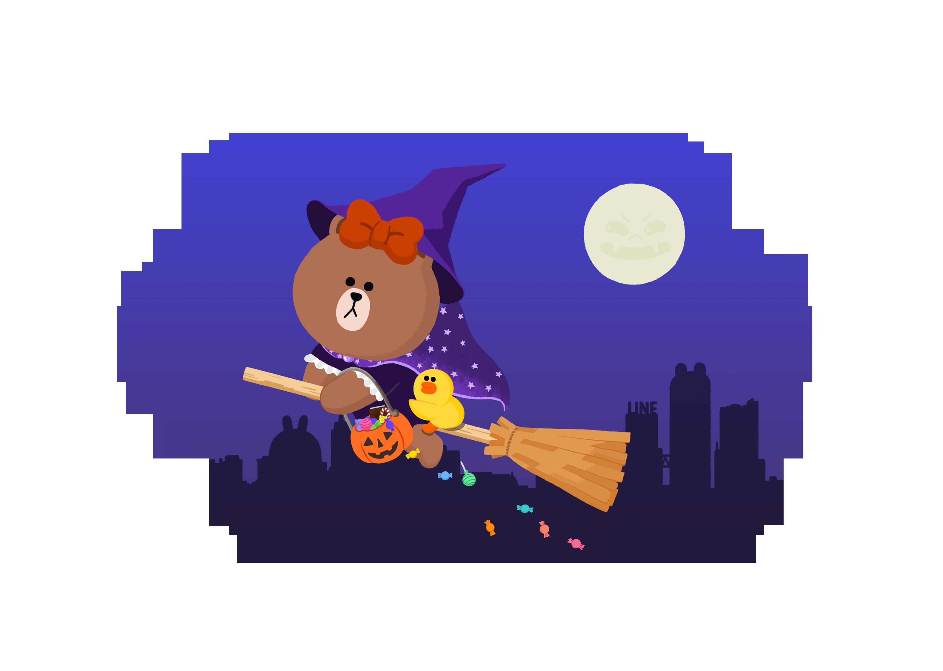"""내 @Behance 프로젝트 살펴보기: """"halloween illust, line friends, illustration"""" https://www.behance.net/gallery/46006441/halloween-illust-line-friends-illustration"""