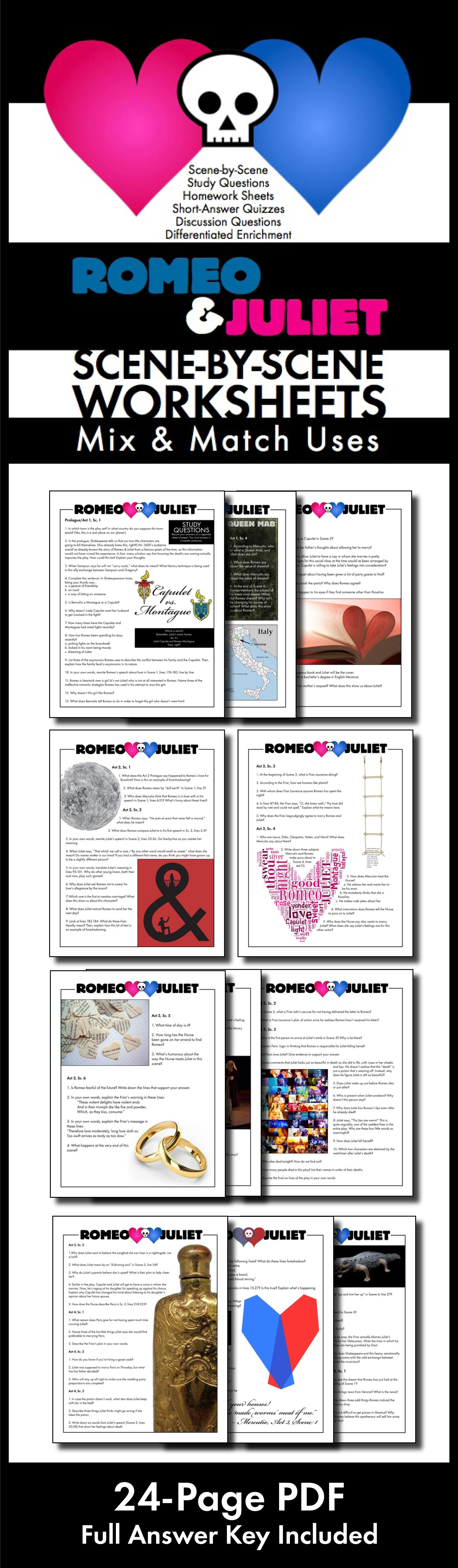 Pin By Laura Randazzo On Tpt Language Art Lesson Teaching Literature Shakespeare Romeo And Juliet Prologue Act 1 Study Guide Answers