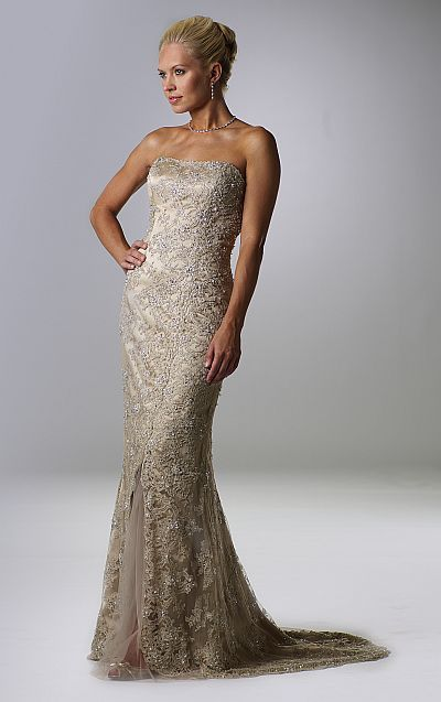 fc2fdc2082 Rina di Montella Lace Mother of the Bride Evening Dress RS1402 at  frenchnovelty.com