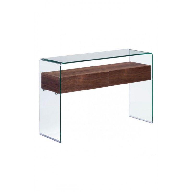 Modern Curved Shape Walnut console Table httpswww