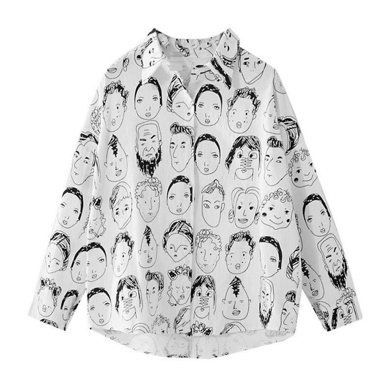 bda958a2f4 Women Street-wear Cartoon Character Shirts 2018 Japan Harajuku Style Girls'  Cotton Linen Printed Casual Spring Summer Tops