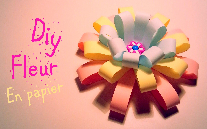 D I Y Comment Faire Une Fleur En Papier Fleurs Pinterest