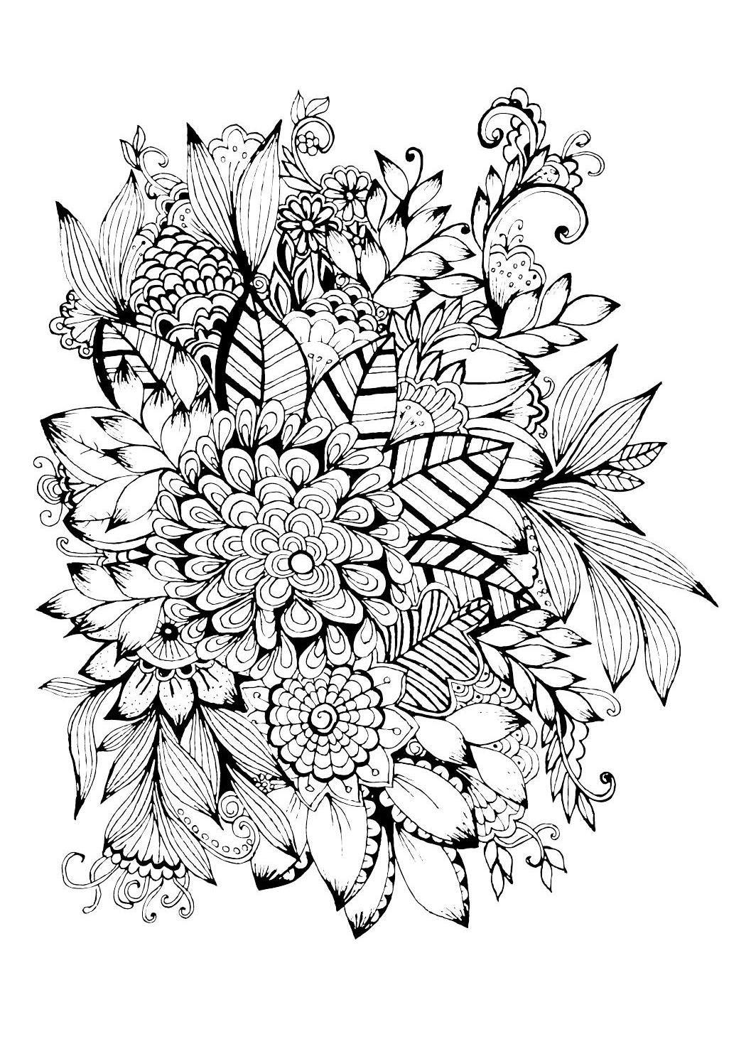 Colour Calm 02 (Sampler) | Zentangle drawings, Free ...
