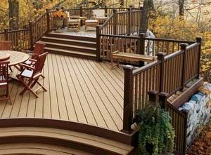 deck with elevated gazebo