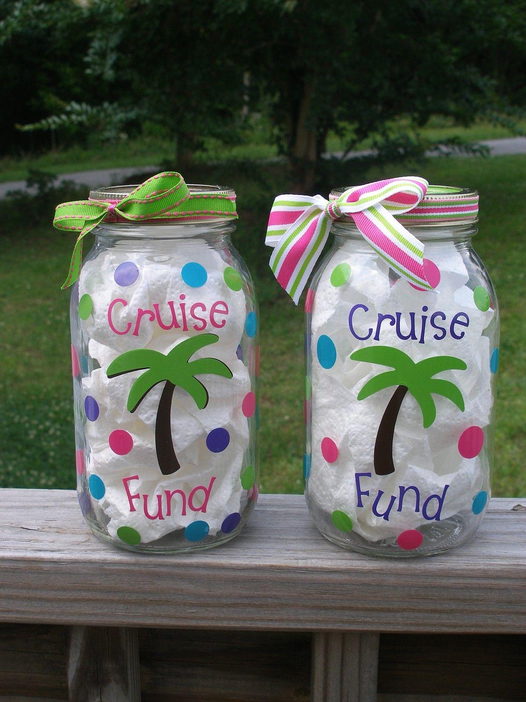 Cruise fund jar coin bank by brieellamaes on etsy for Savings jar ideas