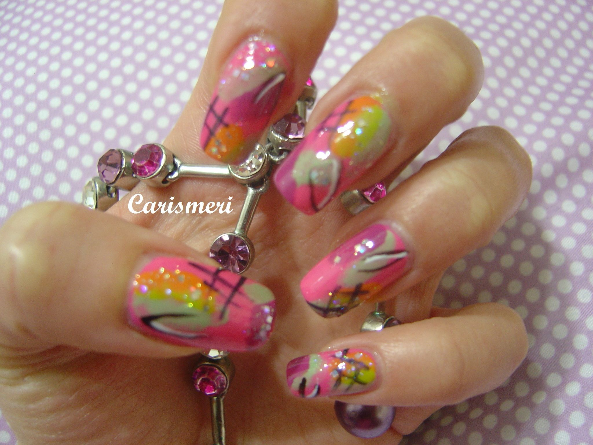 Nicki Minaj (Pink Friday Cover) Nail Art. Tutorial: http://www ...