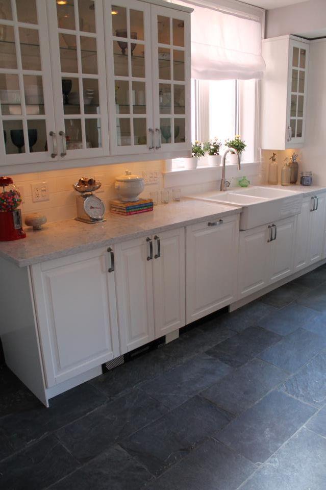 Pin By Jo G On Kitchens Kitchen Tiles Design Slate Kitchen
