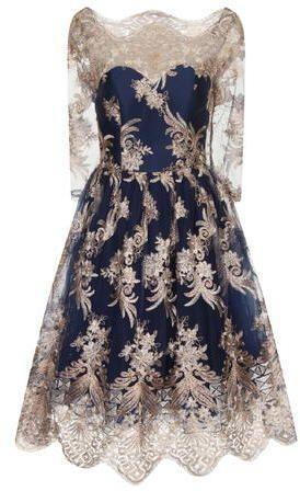 **Chi Chi London Floral embroidered midi dress