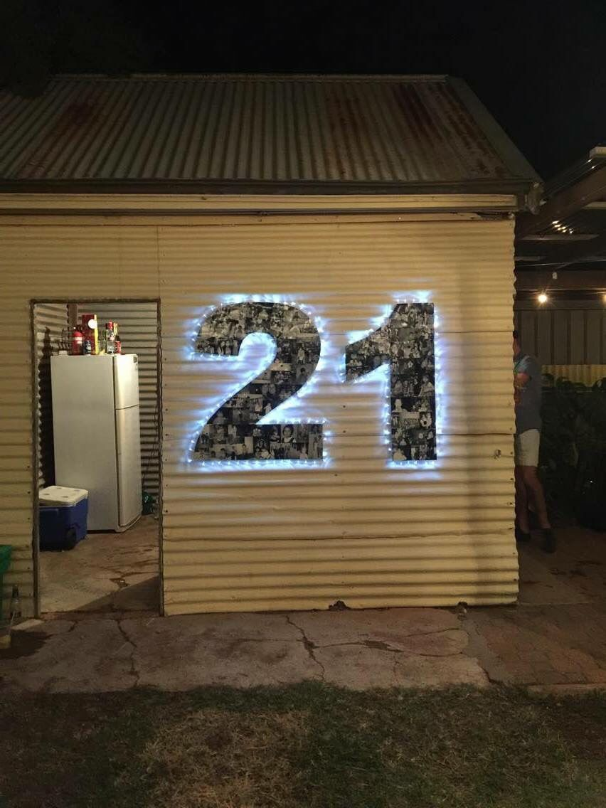 Diy 21 photo board my 21st birthday party ideas for 21st party decoration ideas