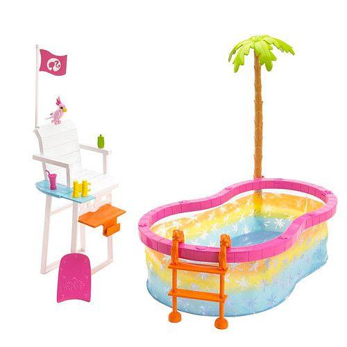 Barbie beach party pool playset mattel toys r us savethebunnygp toys in school pinterest - Piscina toys r us ...