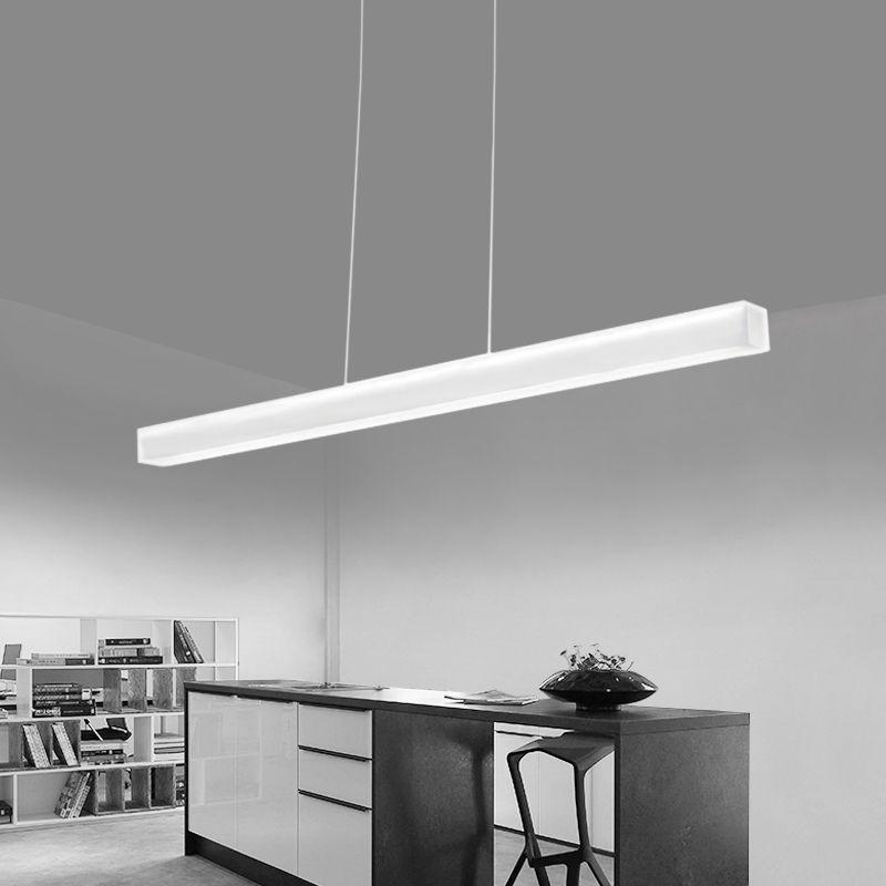 Modern Frameless Acrylic Led Pendant Light Creative Simple Linear Pendant Lamp Long Hanging Light For Of Podvesnye Svetilniki Svetilniki Podvesnoj Svetilnik