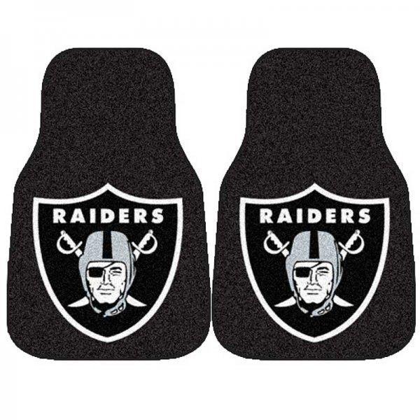 """NFL 2 Piece Car Mat Set - Oakland Raiders (Multi) (0.5""""H x 18""""W x 27""""L)"""