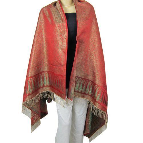 Scarf for Women Fashion India Summer Dress Brocade Silk