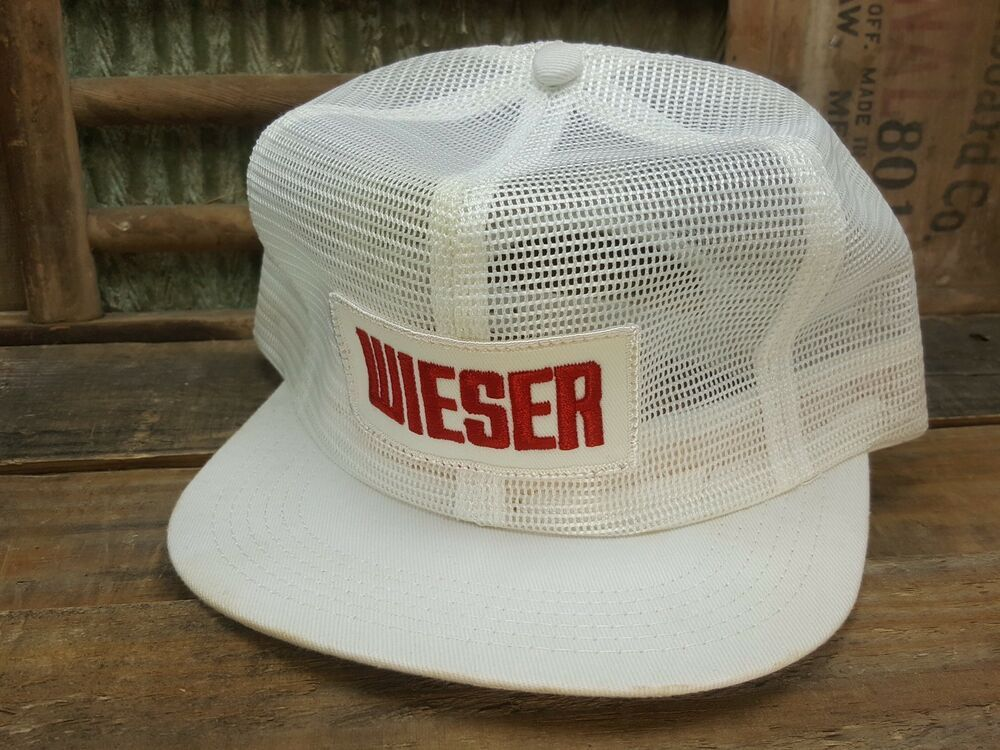 a0d44f676a495 Vintage Wieser All Mesh Snapback Trucker Hat Cap Patch K Brand Made In USA   fashion