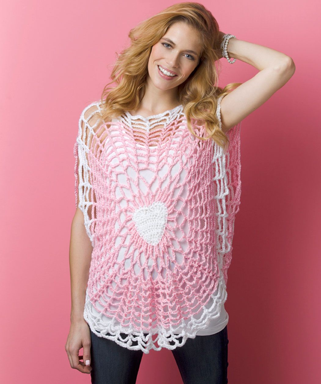 Lighthearted tunic hmmm think i found my next big project lighthearted tunic free crochet pattern from red heart yarns would be cute for valentines dayweek bankloansurffo Gallery