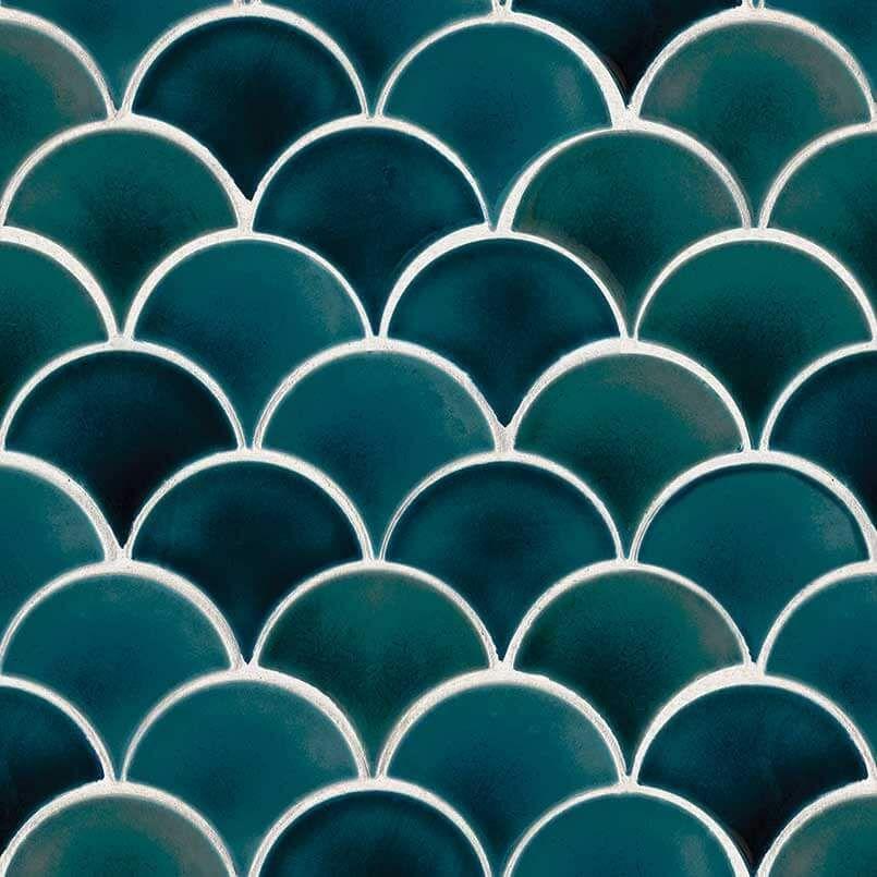 Photo of Azul Scallop Backsplash Tile – Box – 9.1 sq. ft.