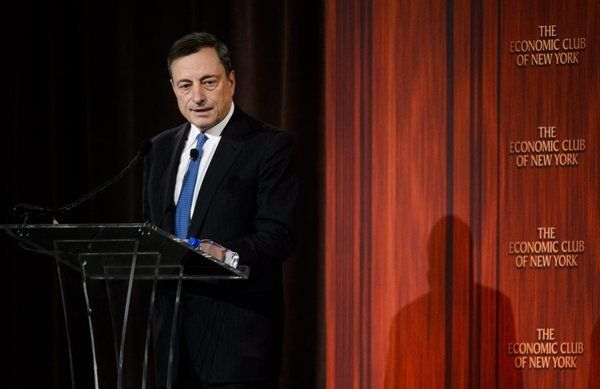 The President of the European Central Bank, Mario Draghi.  Rate Push in the Neg. Borrowing more/Deeper in Debt.(Photo: AP)