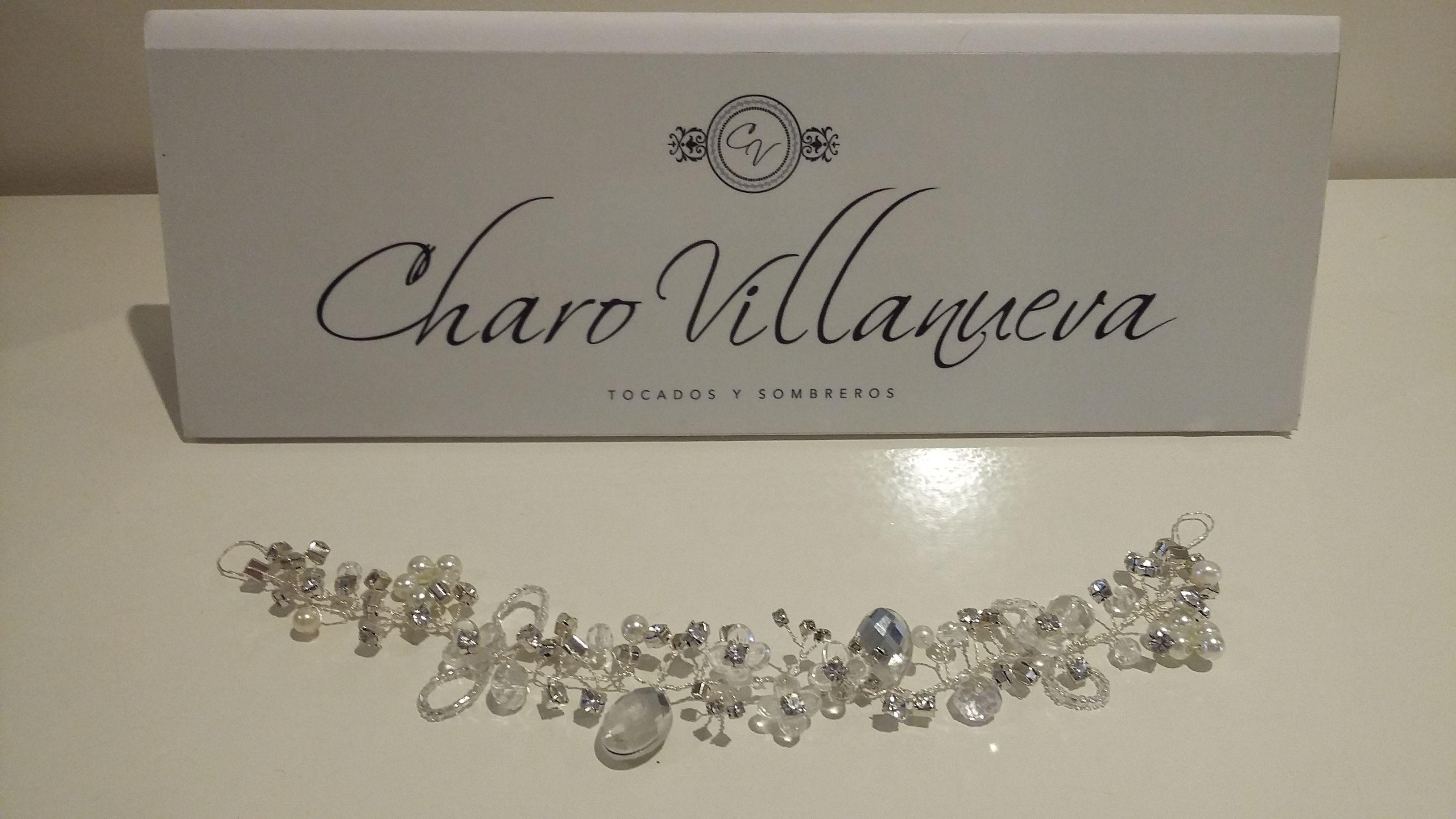 Tiara novia con cristal y perlas