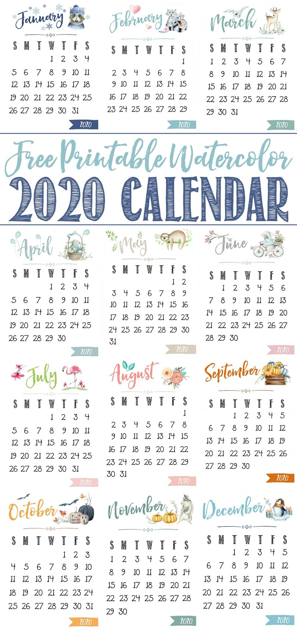 Free Printable 2020 Calendar Clean And Scentsible Calendar Printables Free Printable Calendar Printable Calendar