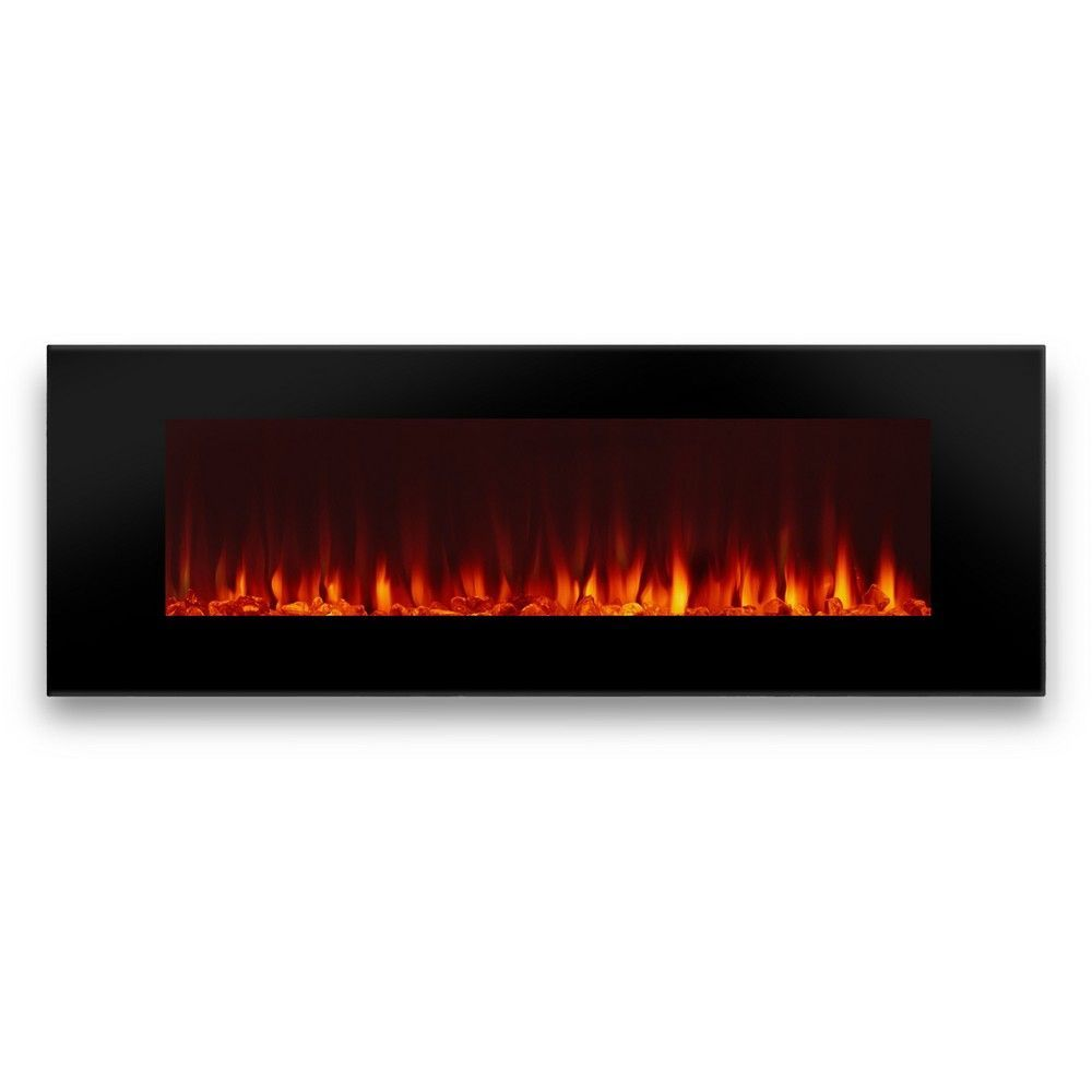 Real Flame Dinatale 50 Wall Mounted Electric Fireplace Black