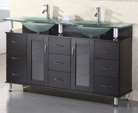Tempered Glass Vanity Tops For A Striking Modern Bathroom Glass