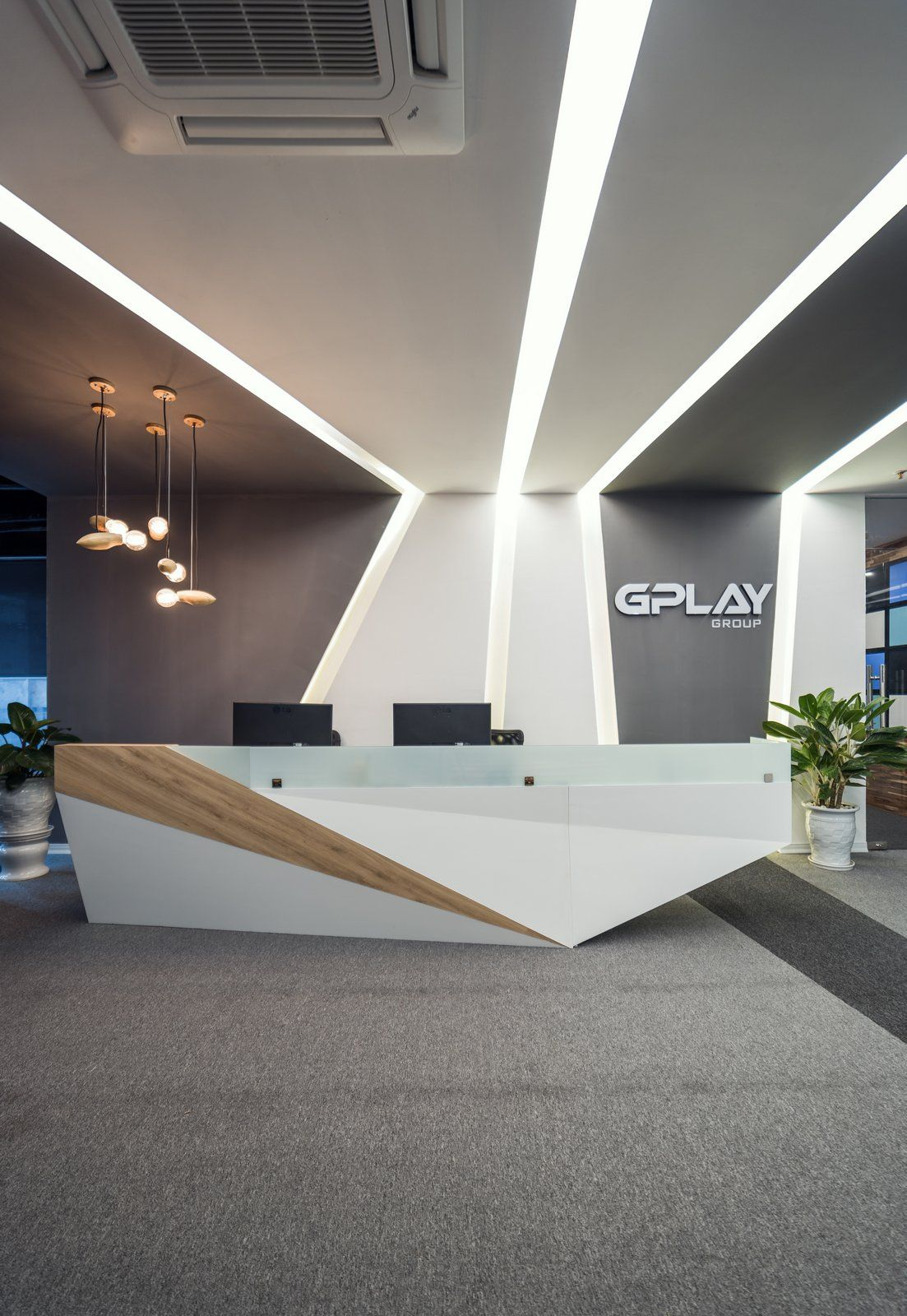 Office Tour F88 Gplay Group Offices Hanoi Office Reception Design Modern Reception Desk Design Modern Office Reception