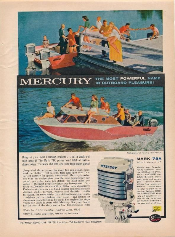 Mercury boat motors bikini girls for lovely