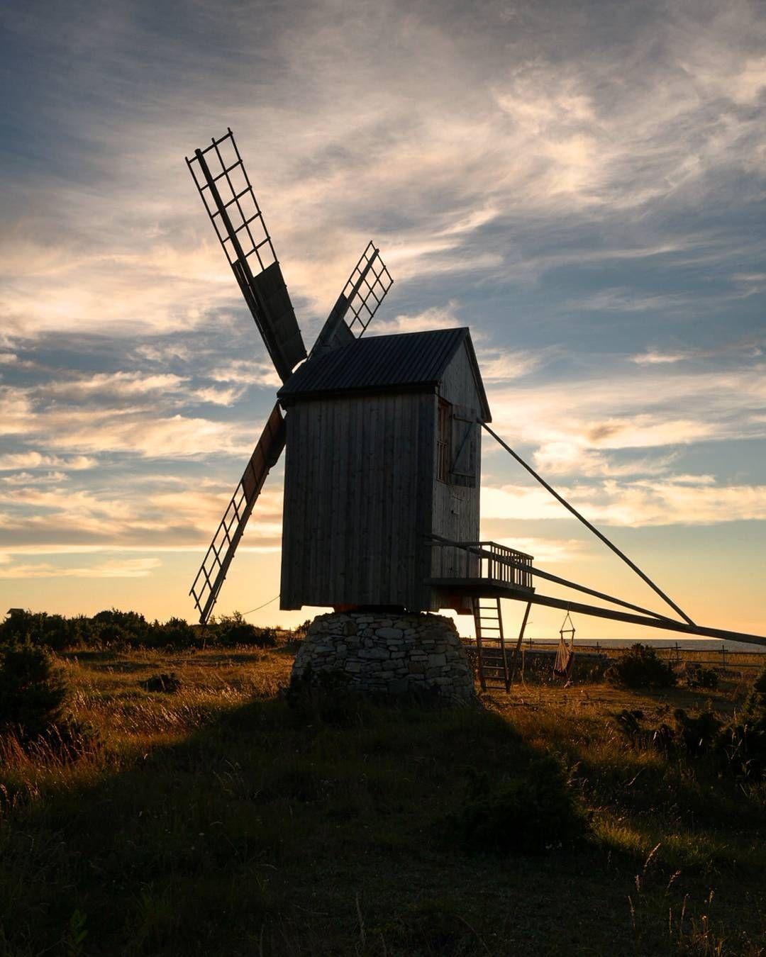 Windmill, Saaremaa island, Estonia
