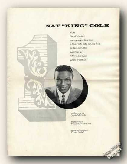 """Nat """"King"""" Cole Picture Rare (1954)"""