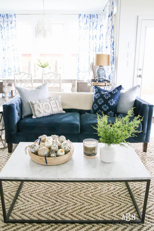 Blue And Silver Christmas Living Room Tour 2018 Living