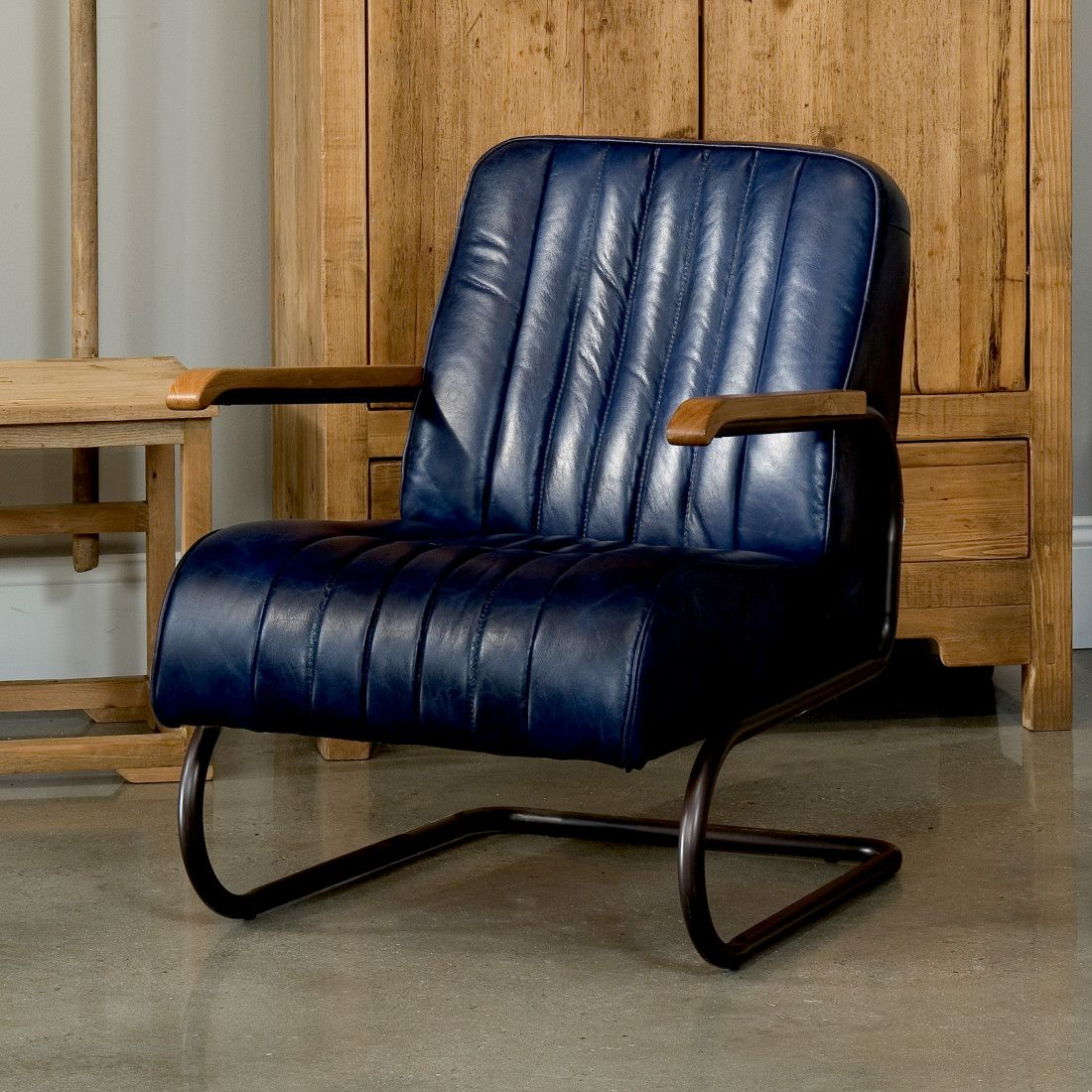 Bel Air Arm Chair Blue