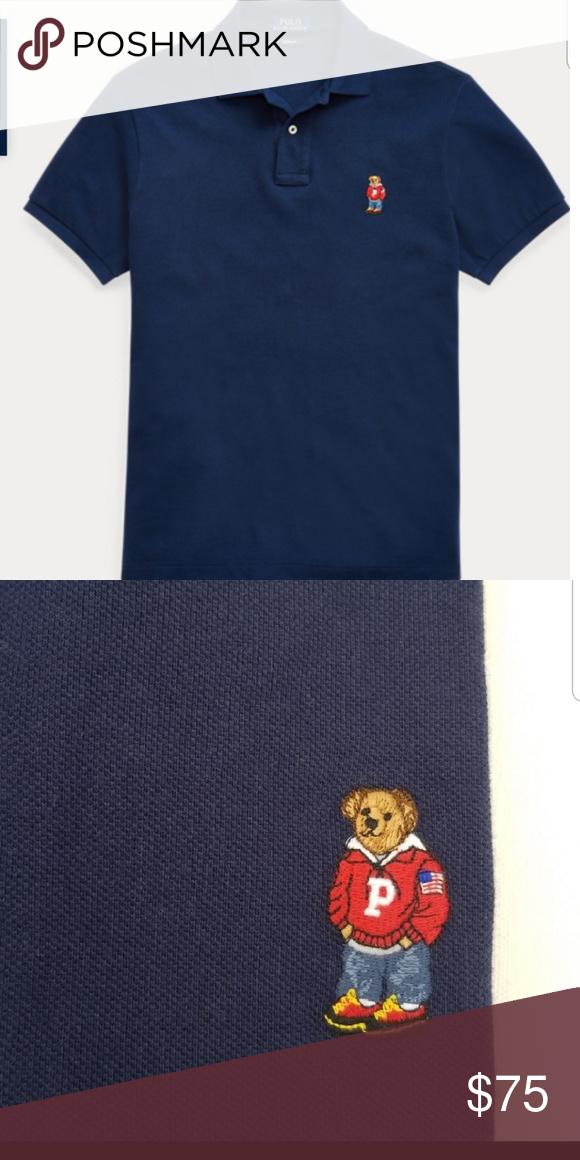 8106d2f6 Ralph Lauren Polo Teddy Bear Shirt Size Large Color Navy Blue Polo by Ralph  Lauren Shirts Polos