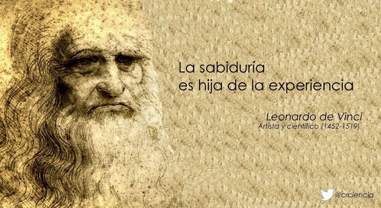 La Sabiduría Es Hija De La Experiencia Leonardo Da Vinci