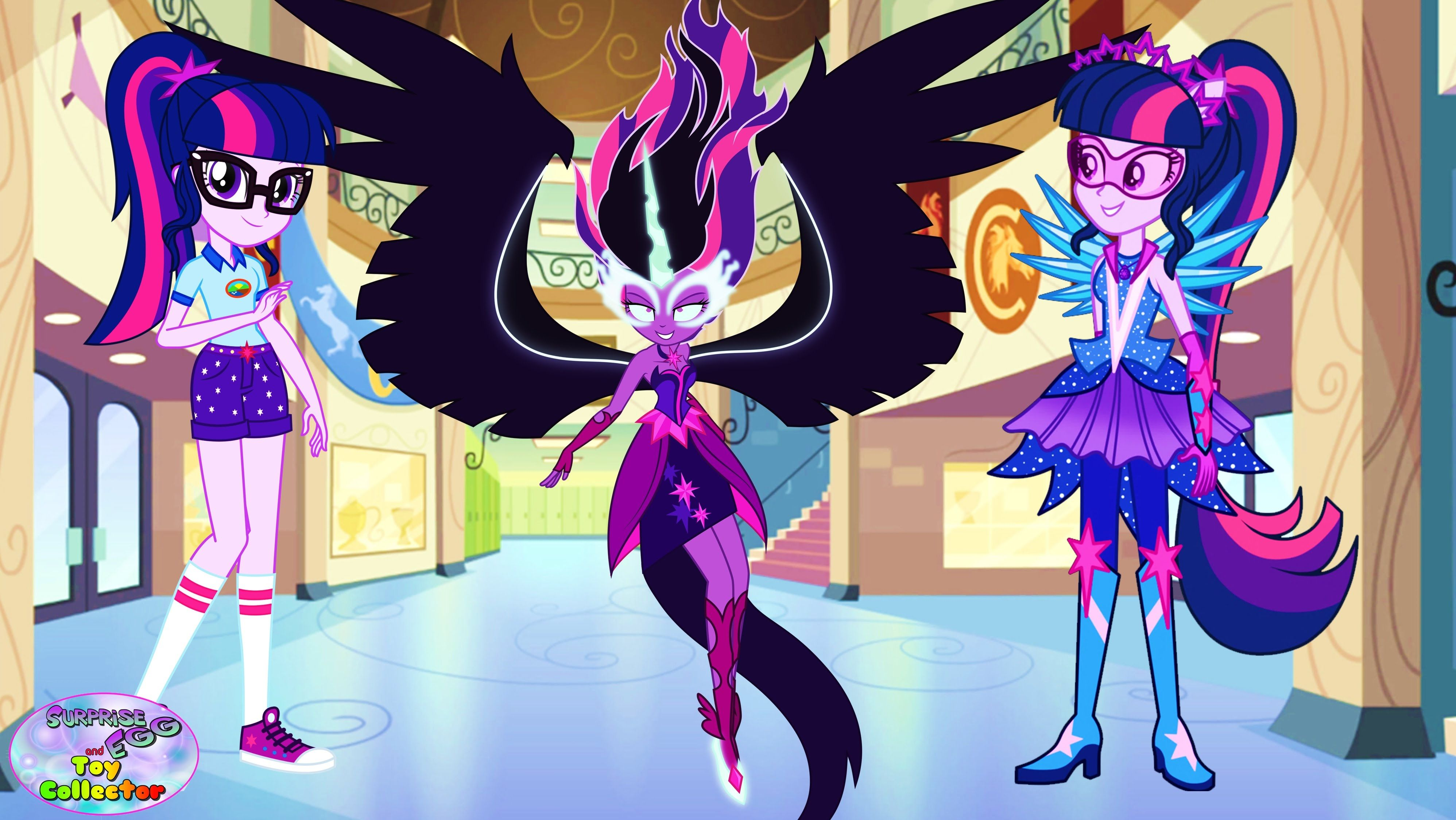 My Little Pony Coloring Pages Nightmare Moon : My little pony twilight sparkle transforms equestria girls swap