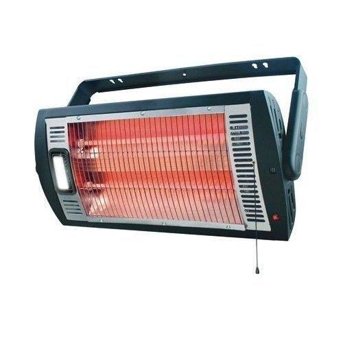 Ceiling Mounted Workshop Garage Heater Halogen Light 1500