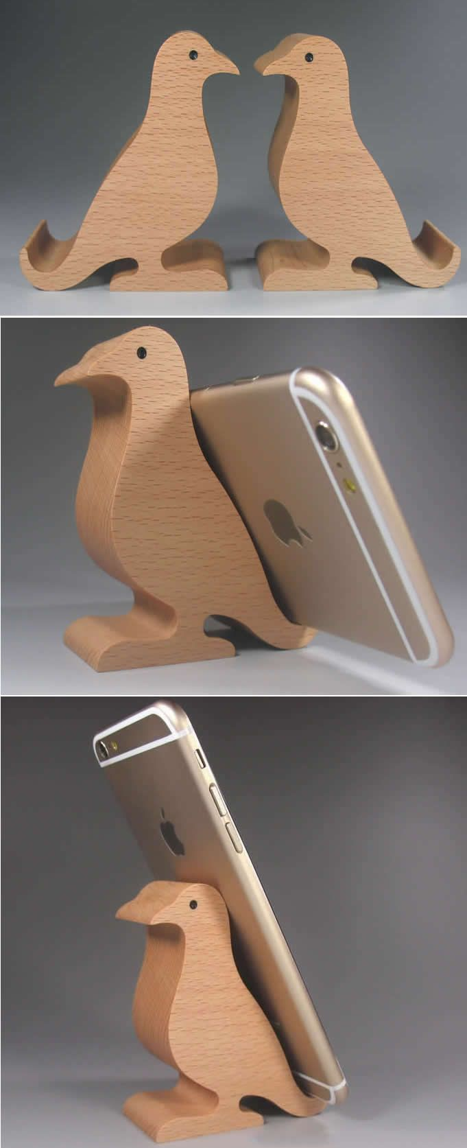 Wooden Bird Shaped Mobile Phone iPad Holder Stand | Woodworking ...