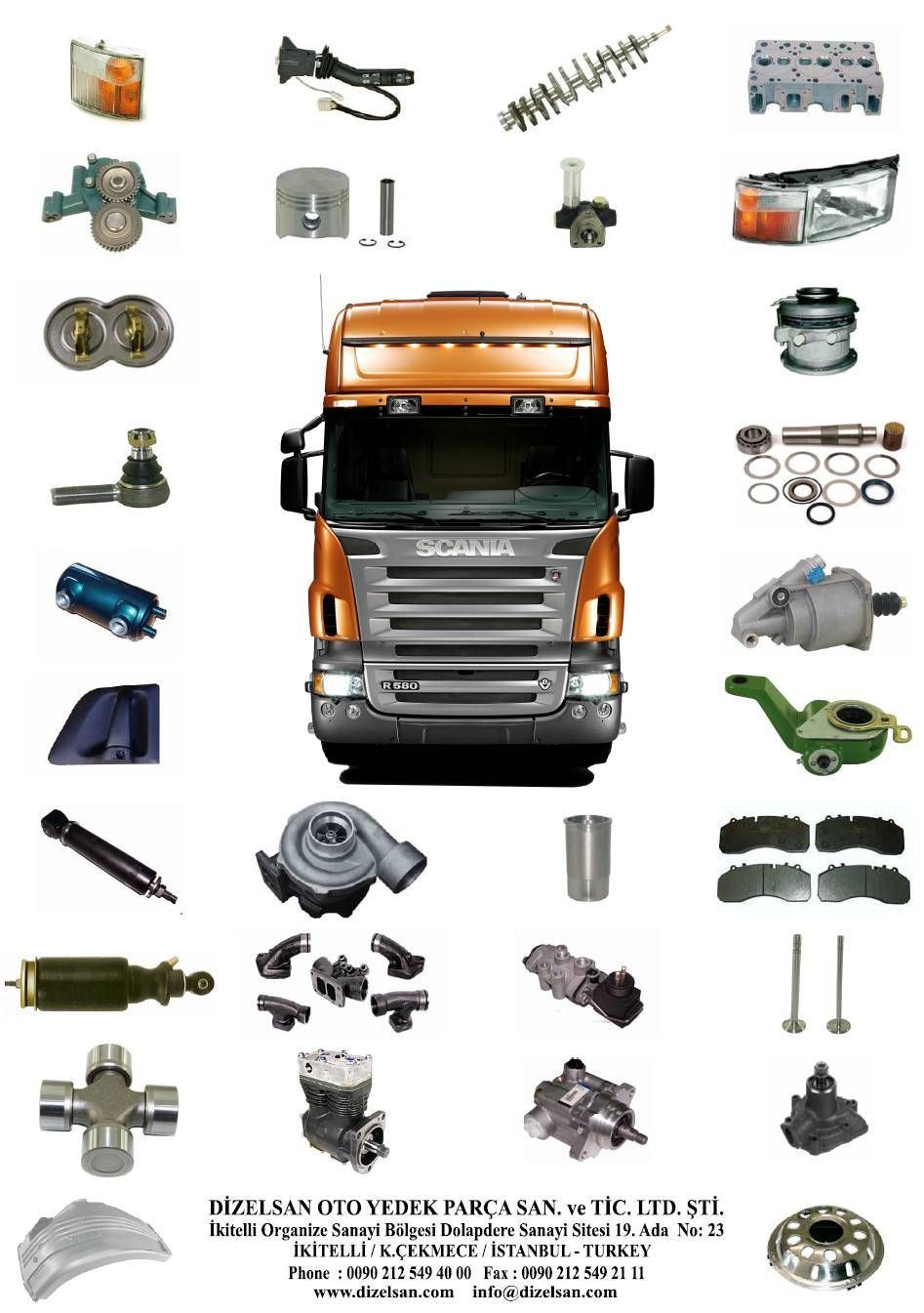 High Quality Turkish Made Spare Parts For Scania Trucks ...